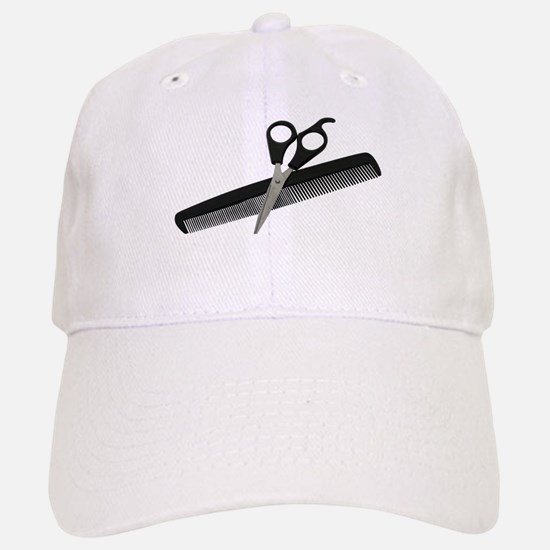 Scissors and Comb Baseball Baseball Cap