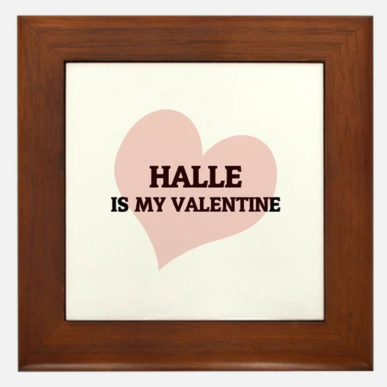 Halle Is My Valentine Framed Tile