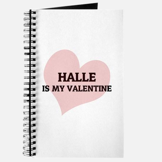 Halle Is My Valentine Journal
