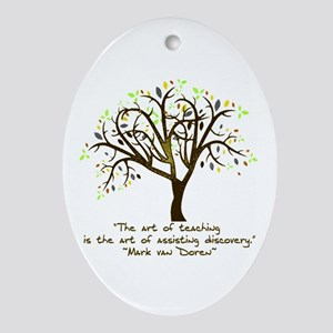 The Art Of Teaching Oval Ornament