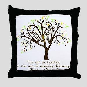 The Art Of Teaching Throw Pillow