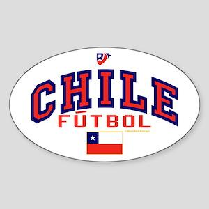CL Chile Futbol Soccer Sticker (Oval)