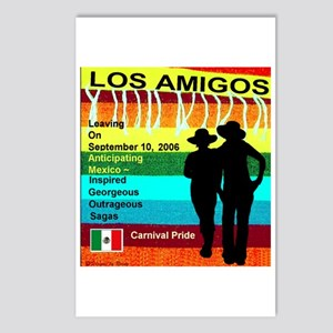 Los Amigos Carnival Pride Postcards (Package of 8)