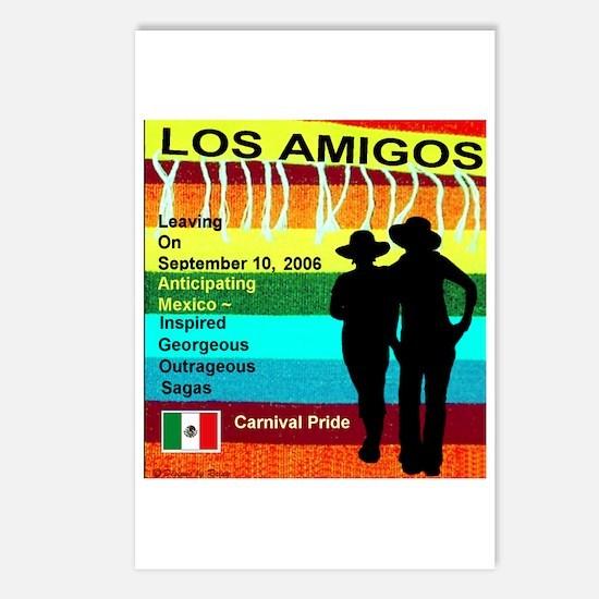 Los Amigos Carnival Pride Postcards (Package of 8)