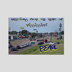 Pearl, Mississippi Rectangle Magnet