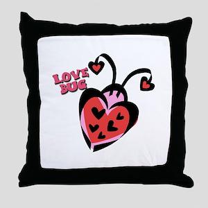 Love Bug Lady Bug Throw Pillow
