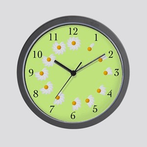 Daisy Petal Lime Clock
