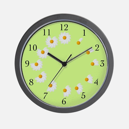Daisy Petal Lime Clock