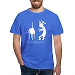Kokopeli Playing Theremin Dark T-Shirt