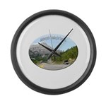 Motorcycle Touring in Canada Large Wall Clock