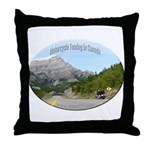 Motorcycle Touring in Canada Throw Pillow