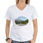 Motorcycle Touring in Canada Women's V-Neck T-Shir