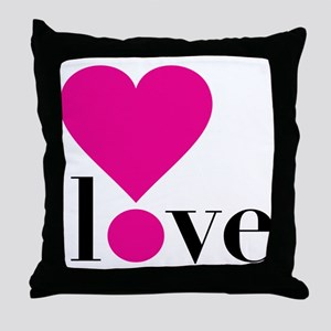 Love! in Hot Pink Throw Pillow