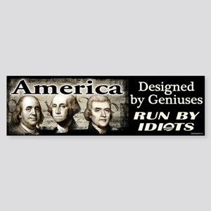 Designed by Geniuses Sticker (Bumper)