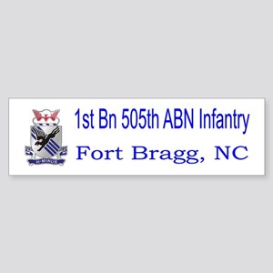 1st Bn 505th ABN Sticker (Bumper)