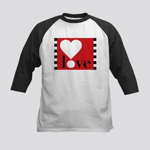 Love! on Red Kids Baseball Jersey
