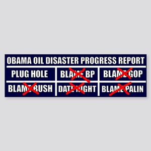 Oil Disaster Sticker (Bumper)