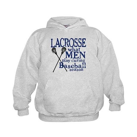 Men Play Lacrosse Kids Hoodie
