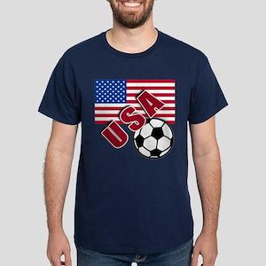 USA Soccer Team Dark T-Shirt