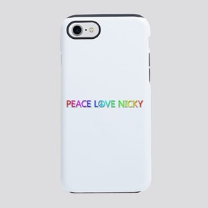Peace Love Nicky iPhone 7 Tough Case