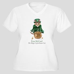 Finn McCool Women's Plus Size V-Neck T-Shirt