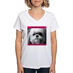 Shih Tzu Heaven Women's V-Neck T-Shirt