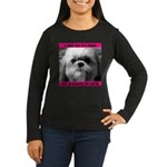 Shih Tzu Heaven Women's Long Sleeve Dark T-Shirt