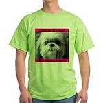 Shih Tzu Heaven Green T-Shirt