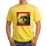 Shih Tzu Heaven Yellow T-Shirt
