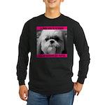 Shih Tzu Heaven Long Sleeve Dark T-Shirt