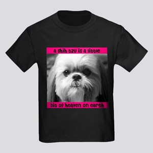 Shih Tzu Heaven Kids Dark T-Shirt