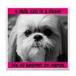 Shih Tzu Heaven Tile Coaster