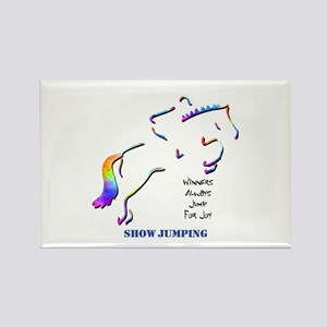 Show Jumping Rectangle Magnet