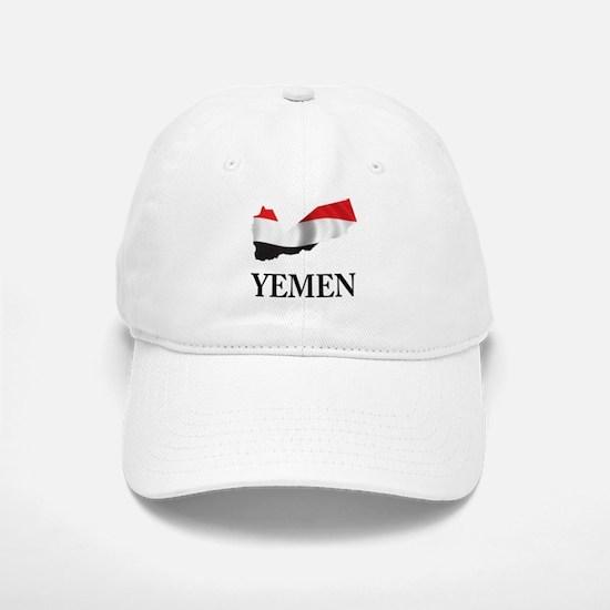 Map Of Yemen Baseball Baseball Cap