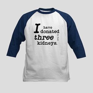 Three Kidneys Kids Baseball Jersey