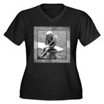 Stone Cherub Women's Plus Size V-Neck Dark T-Shirt
