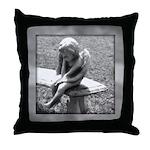 Stone Cherub Throw Pillow