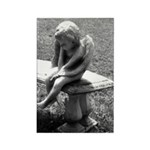 Stone Cherub Rectangle Magnet (100 pack)