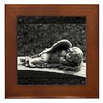Sleeping Cherub Framed Tile