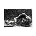 Sleeping Cherub Rectangle Magnet (100 pack)