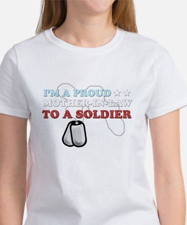 Proud MIL to a Soldier Women's T-Shirt
