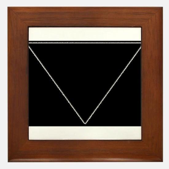 Black Tri Simple Framed Tile