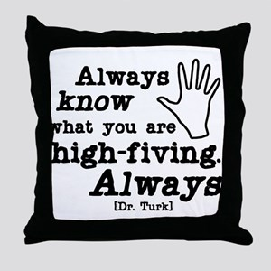Scrubs High Five Throw Pillow