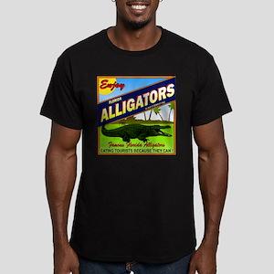 ENJOY ALLIGATORS Men's Fitted T-Shirt (dark)