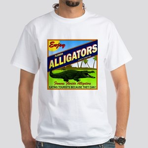 ENJOY ALLIGATORS White T-Shirt