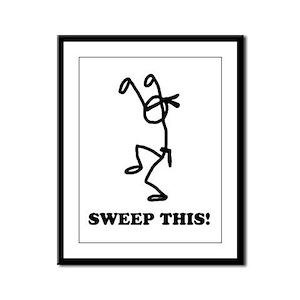 Sweep this! (light) Framed Panel Print