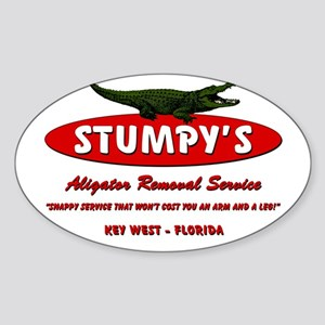 STUMPY'S GATOR REMOVAL SERVIC Sticker (Oval)