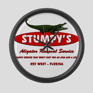 STUMPY'S GATOR REMOVAL SERVIC Large Wall Clock