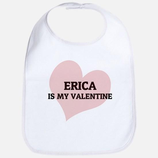 Erica Is My Valentine Bib