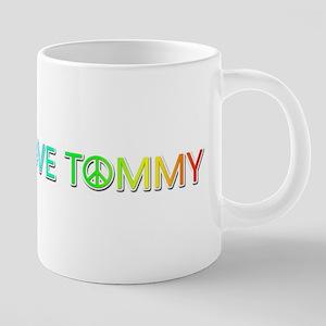 Peace Love Tommy Ceramic Mega Mug